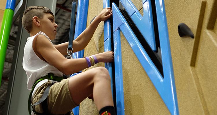 indoor rock climbing camp