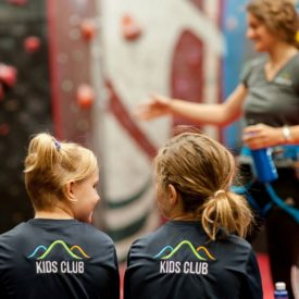 WA kids rock climbing